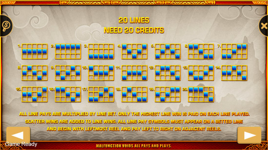 Pay Lines Fortune Bull Slot