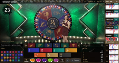 เกมวงล้อมหาโชค Money Wheel SA GAMING