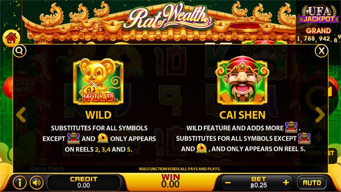 Rat of Wealth Wild Symbol