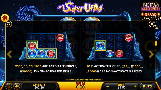 Super Ufa Slot ไลน์สำหรับการชนะสล็อต></div> <p>สำหรับไลน์ในการชนะหรือได้รับรางวัลของเกม Super Ufa นั้นไม่มีอะไรที่ซับซ้อน เพียงผู้เล่นปั่นให้ลูกบอลตกอยู่ในตำแหน่งตามภาพตัวอย่างด้านบนในแถวที่ 1 ก็สามารถรับรางวัลได้ทันที ส่วนแถวที่ 2-3-4 ลูกบอลจะต้องอยู่ติดกับแถวที่ 1 ในแนวตั้งหรือแนวน้อยเท่านั้นถึงจะได้รับรางวัล หากสงสัยสามารถดูได้จากภาพตัวอย่าง</p> <div align=