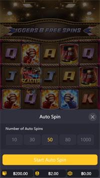 Auto Spin สล็อตมวยไทย PGSlot