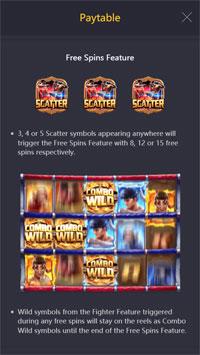 Free Spin Bonus Muay Thai Champion