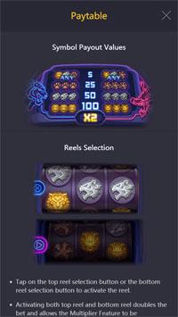 อัตราจ่ายรางวัล Dragon Tiger Luck Slot