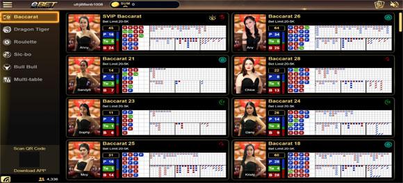 Baccarat eBet Casino